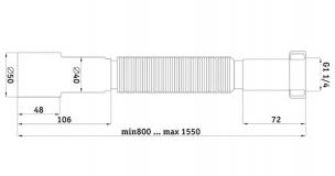 "Гофротруба 1/4 ""х 40/50, 800-1550 мм"