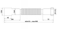 "Гофротруба 1 1/2""х40/50, 410-800 мм"